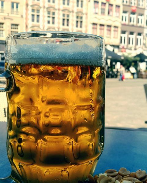 Bière belge dans le ville de Gand