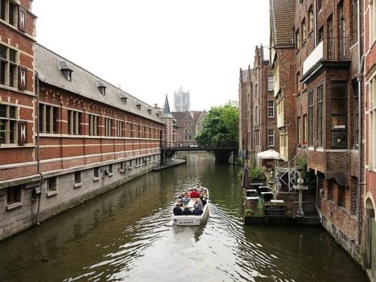 Les canaux du centre ville de Gand