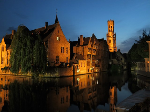 Bruges de nuit week end