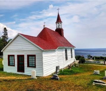 Chapelle et vue sur le St Laurent