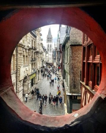 Rouen-le centre et le gros horloge