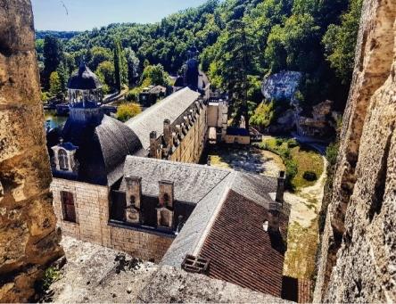 Vue sur l'abbaye de Brantôme depuis le clocher