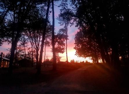 Coucher de soleil sur le camping Vacansoleil