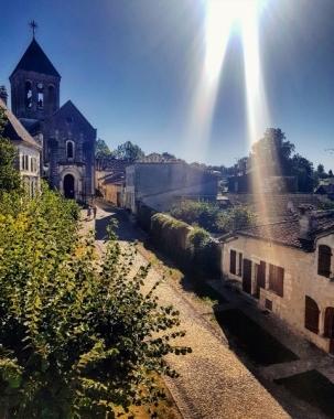 Vue sur le village de Bourdeilles-Dordogne