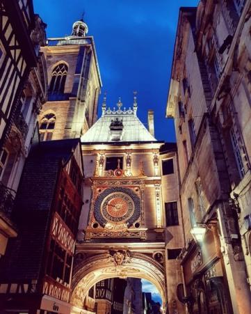 Rouen et le Gros Horloge