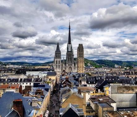 Rouen-Vue sur la ville
