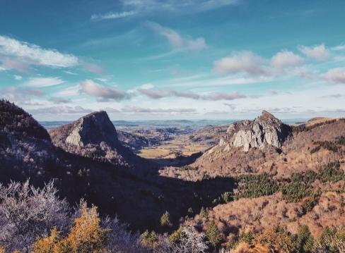 Vue sur les roches tuilières du Puy de Dome