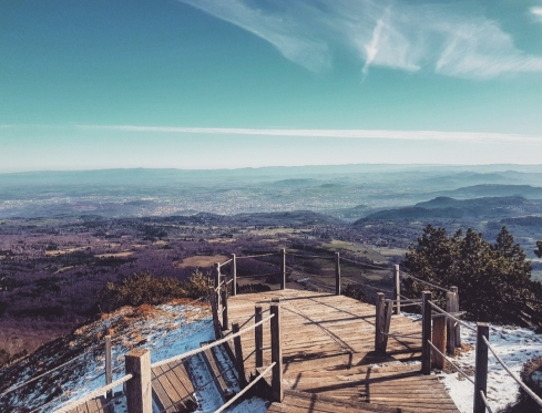 Vue depuis le sommet du Puy de Dôme